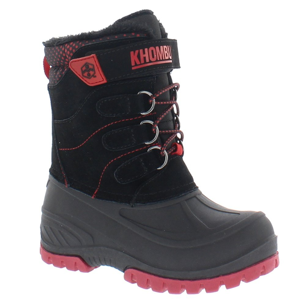 Khombu Hickory Boot (Little Boys') - Black/Red