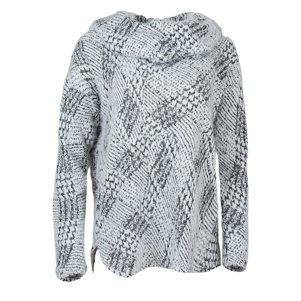 Sno Skins Warm and Fuzzy Cowl Neck Sweater (Women's) - Houndstooth