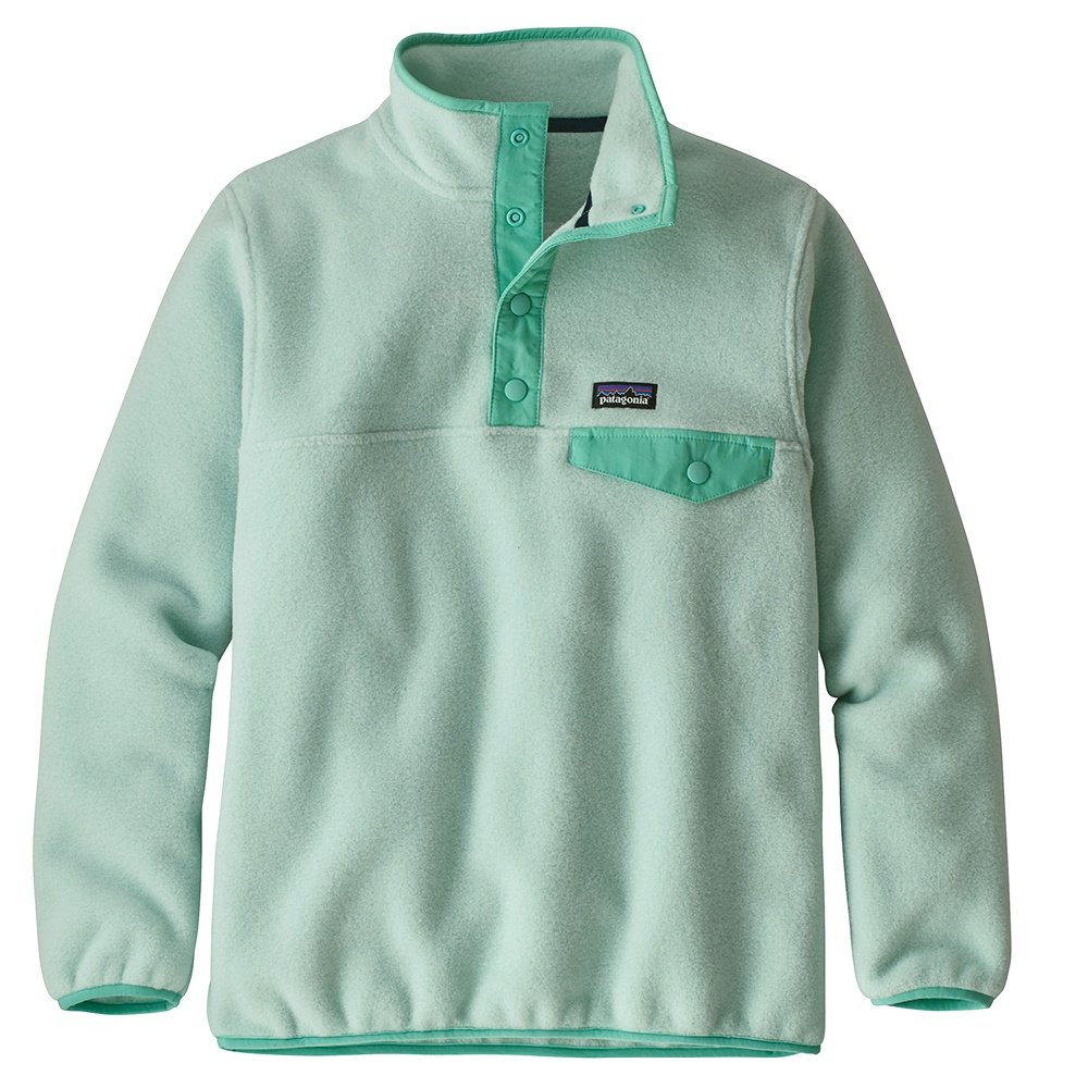 Patagonia Lightweight Synchilla Snap-T Pullover Fleece (Girls') - Lite Distilled Green