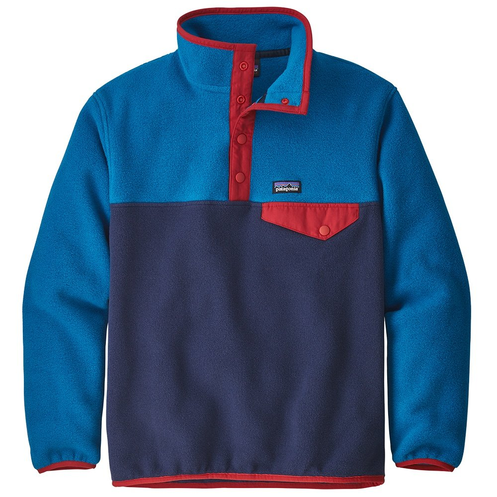 Patagonia Lightweight Synchilla Snap-T Pullover Fleece (Boys') - Neo Navy