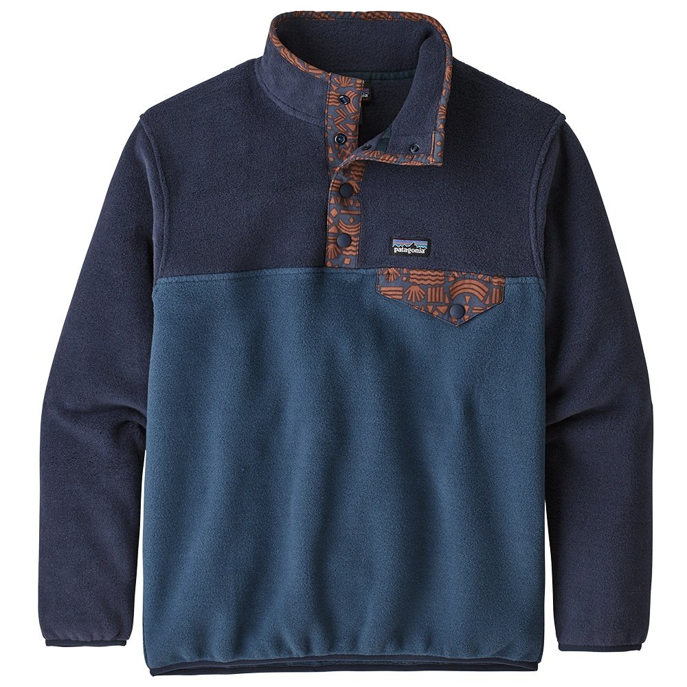 Patagonia Lightweight Synchilla Snap-T Pullover Fleece (Boys') - Stone Blue