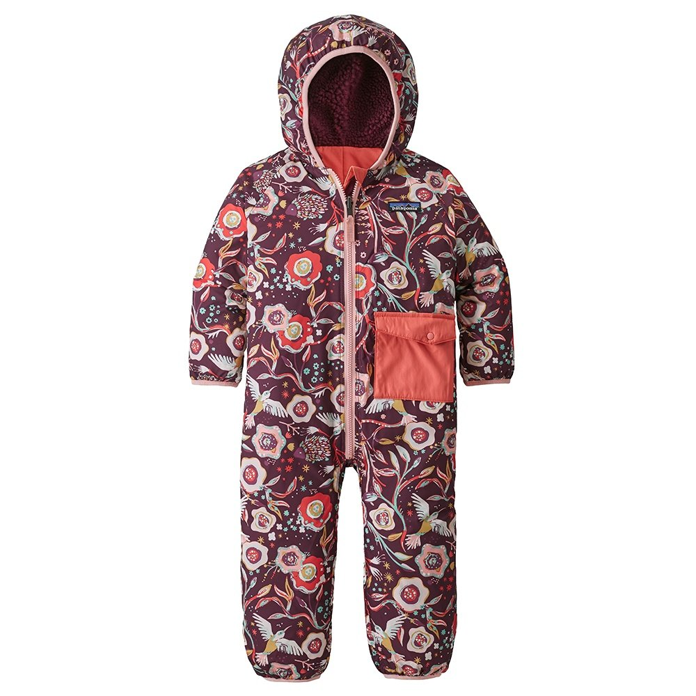 Patagonia Reversible Puff-Ball Bunting Insulated Ski Suit (Little Kids') - Bee Eaters and Vines/Dark Current