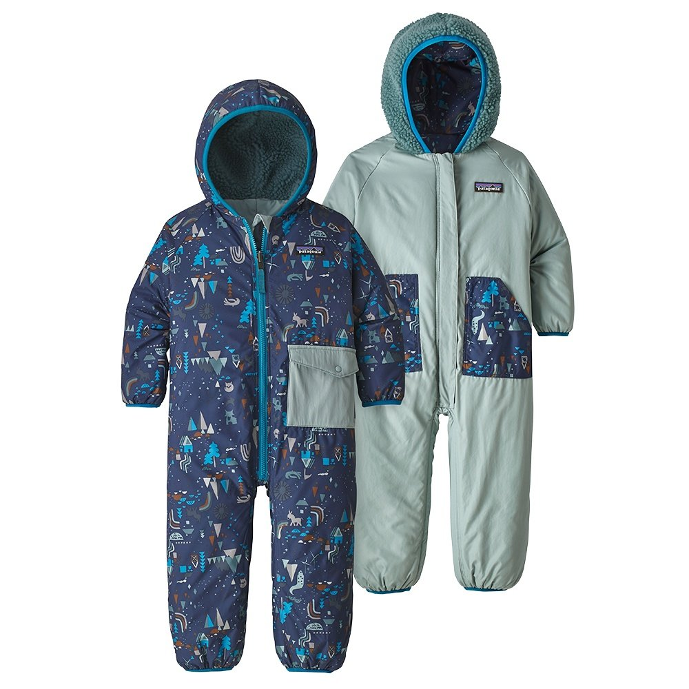 597eb4b1a Patagonia Reversible Puff-Ball Bunting Insulated Ski Suit (Little Kids') -  Block