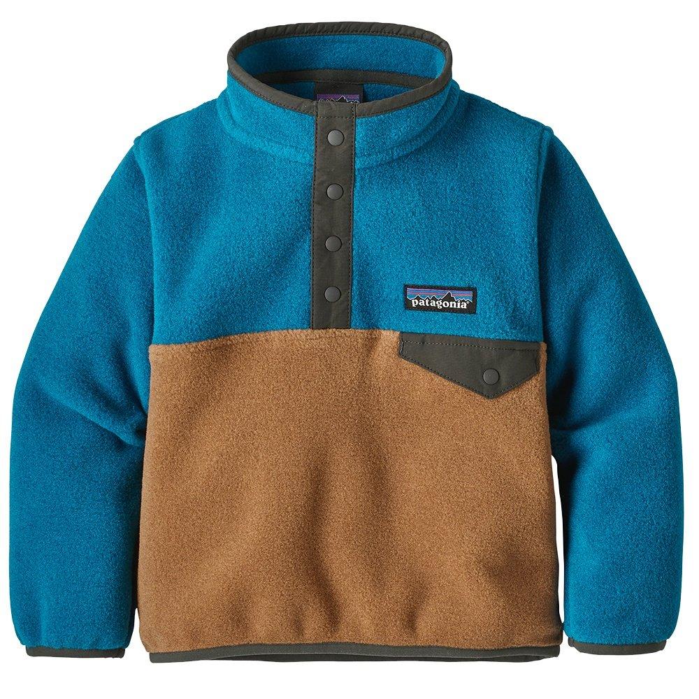 Patagonia Lightweight Synchilla Snap-T Pullover Fleece (Little Kids') - Beech Brown/Balkan Blue