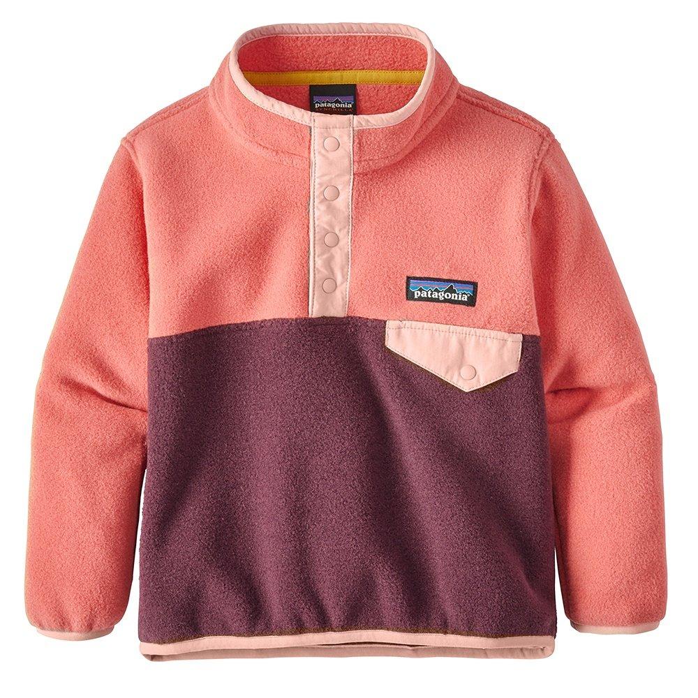 Patagonia Lightweight Synchilla Snap-T Pullover Fleece (Little Kids') - Dark Current