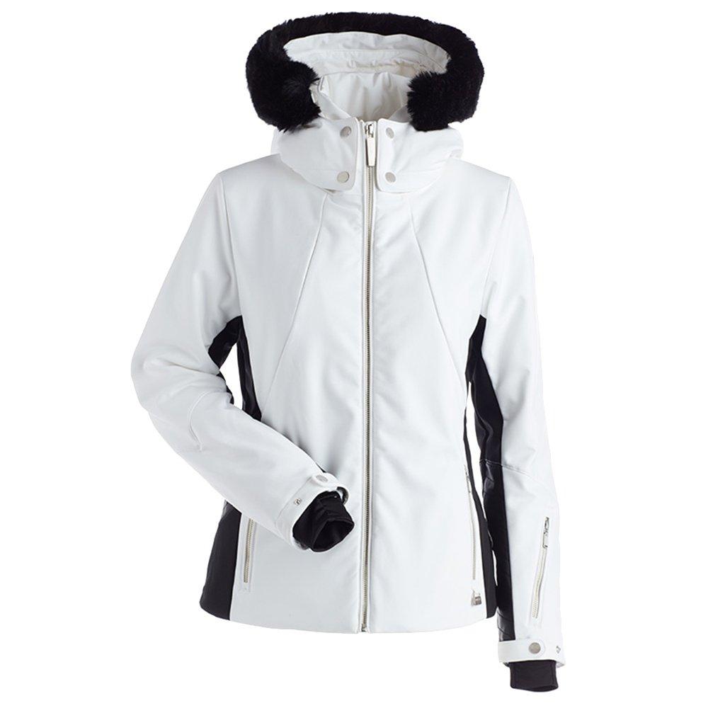 Nils Pia Insulated Ski Jacket with Faux Fur (Women's) - White/Black
