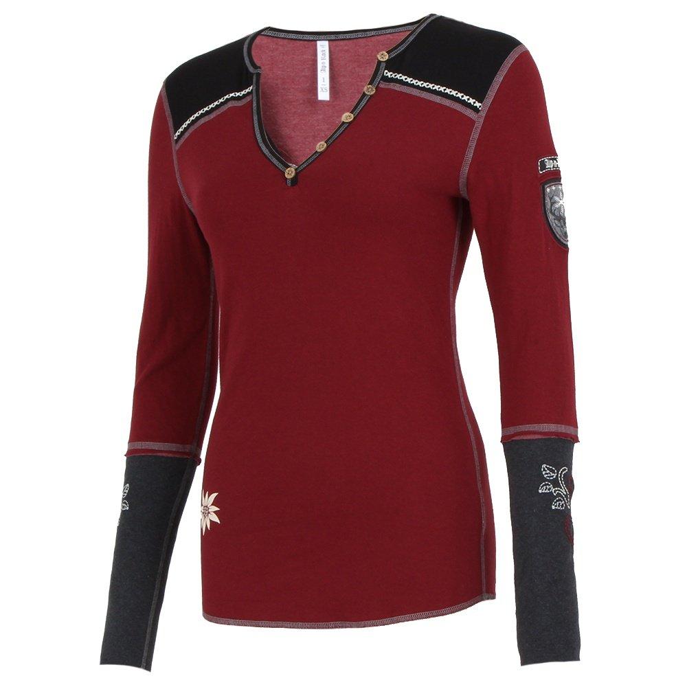 Alp-N-Rock Chamois Henley Shirt (Women's) - Cabernet