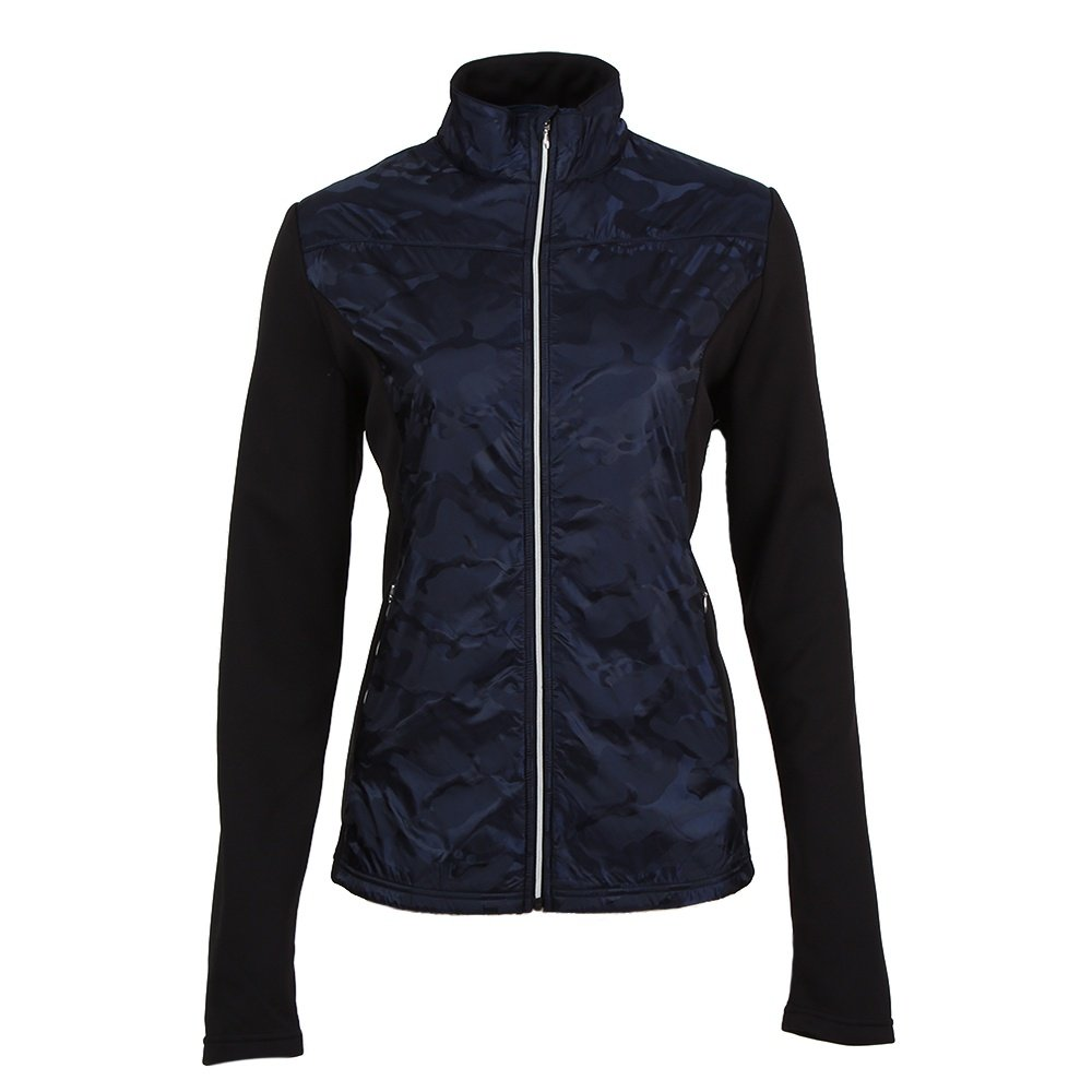 Skea Lech Power Stretch Full Zip Mid-Layer (Women's) - Navy Camo