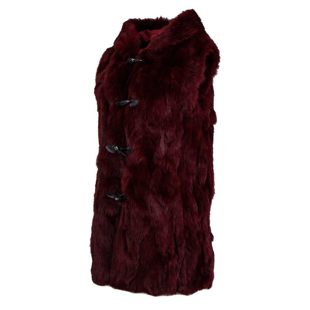 Peter Glenn Rabbit Knit Hooded Vest (Women's) - Wine