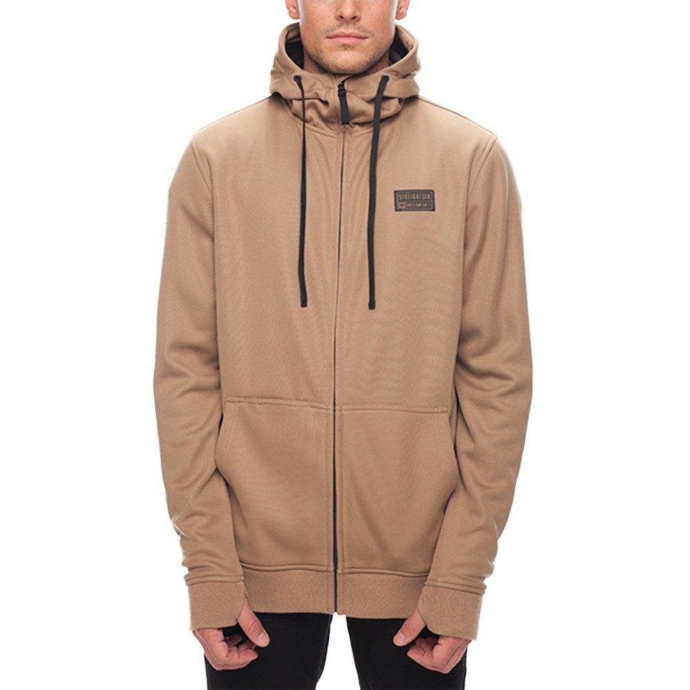 686 Icon Zip Bonded Fleece Hoody (Men's) - Khaki Sublimation