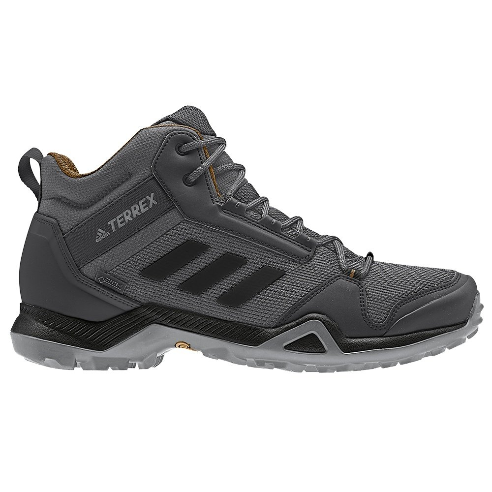 Adidas Terrex AX3 Mid GORE-TEX Hiking Boots (Men's) - Grey/Black/Mesa