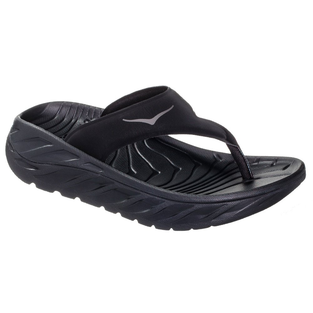 Hoka One One Ora Recovery Flip (Women's) - Black/Dark Gull Gray
