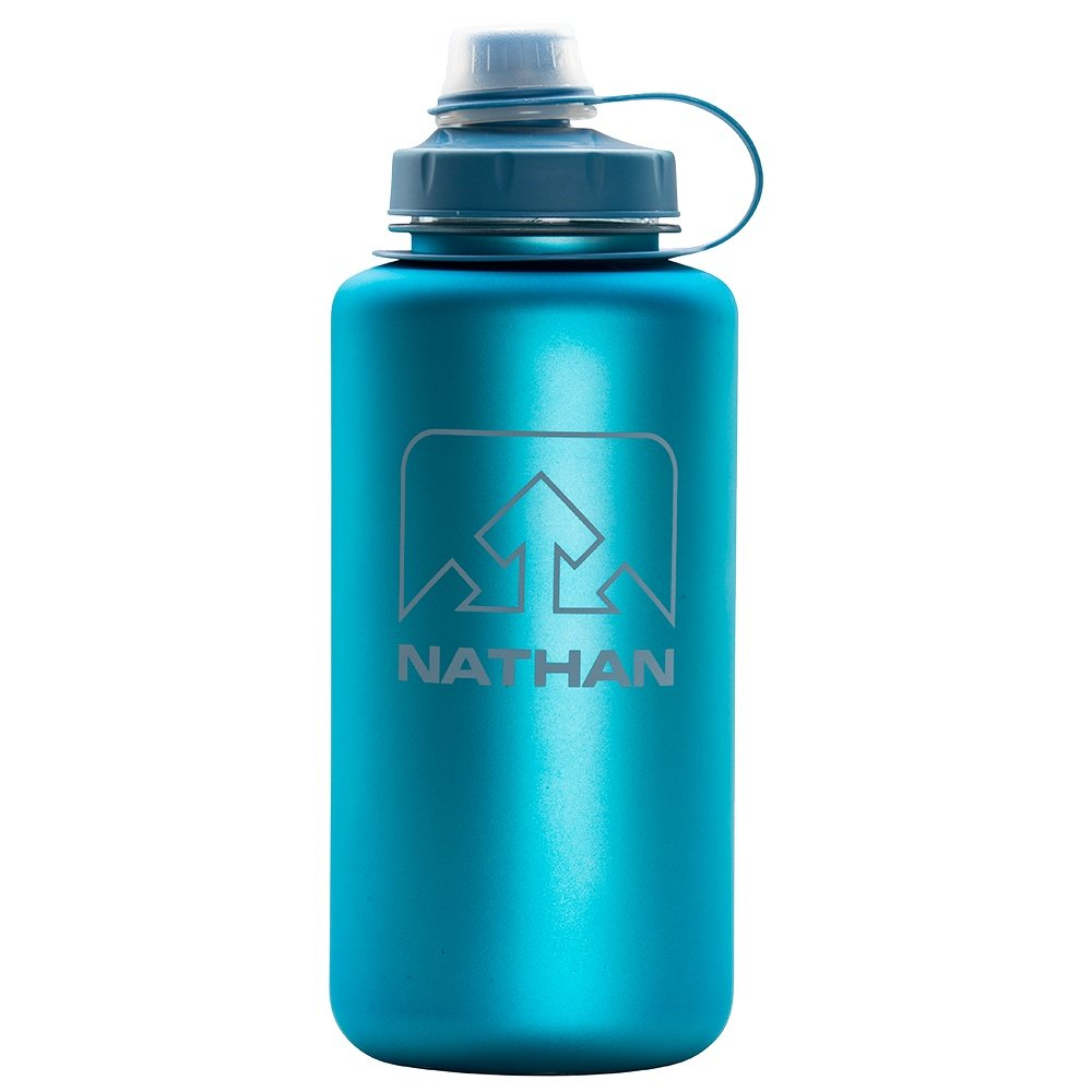Nathan Big Shot 34oz Water Bottle - Electric Blue/Wild Dove Iridescent
