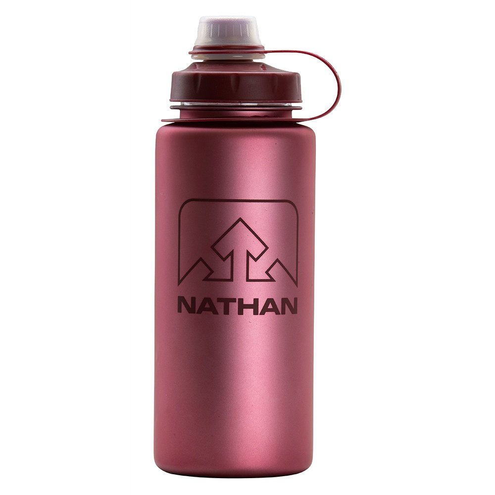 Nathan Little Shot 24oz Water Bottle - Red Dahlia Iridescent