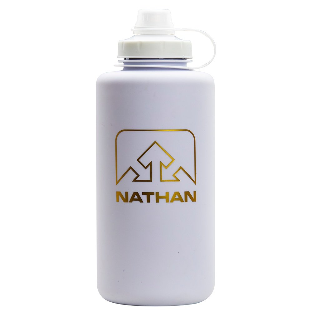 Nathan Super Shot 50oz Water Bottle - White/Gold Frosted