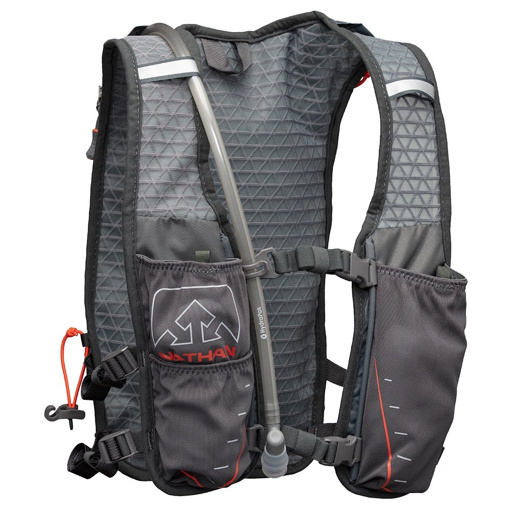 Nathan Trail Mix 7L Race Vest - Charcoal/Steel Grey/Cherry Tomato