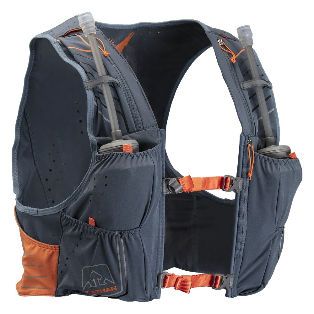 Nathan VaporKrar 2.0 4L Insulated Race Vest - Dark Slate/Blue Mirage/Firecraker