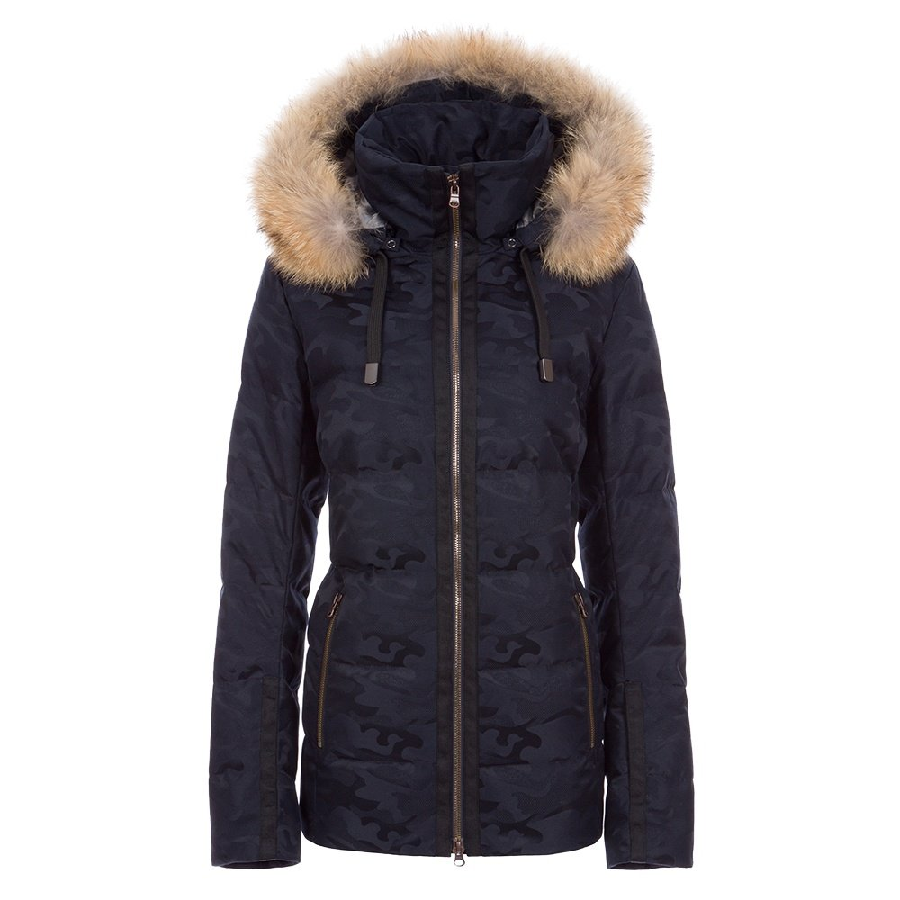 Fera Harper Special Down Ski Jacket with Real Fur (Women's) - Midnight Camo