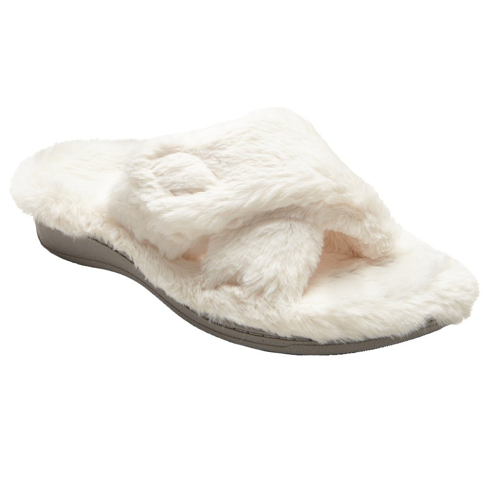 Vionic Indulge Relax Plush Slipper (Women's) - Ivory