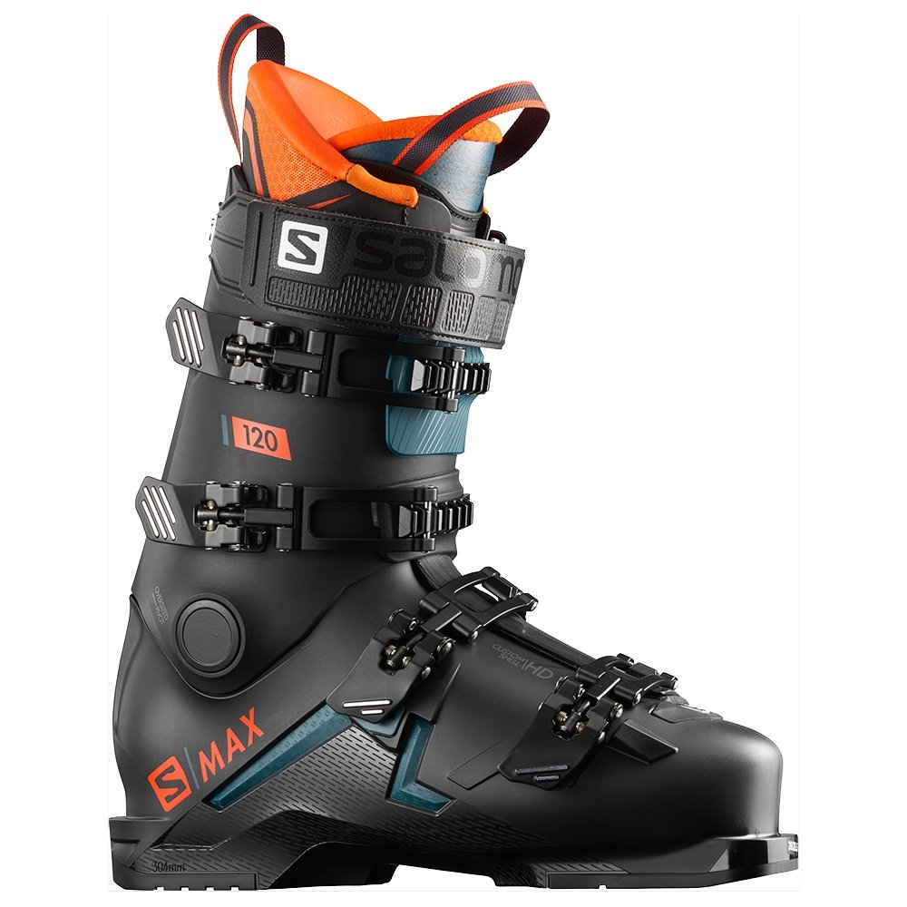 Salomon S/Max 120 Ski Boot - Black/Orange