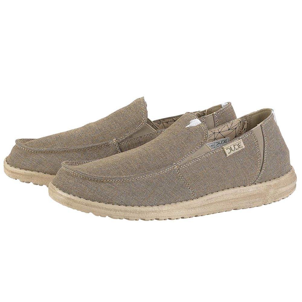 Hey Dude Chan Stretch Fleece Linen Shoe (Men's) - Steppa