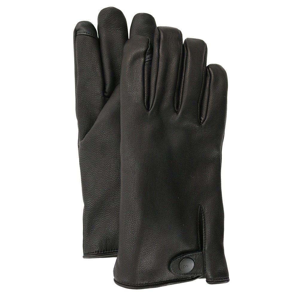 UGG Tabbed Conductive Leather Glove (Men's) - Black
