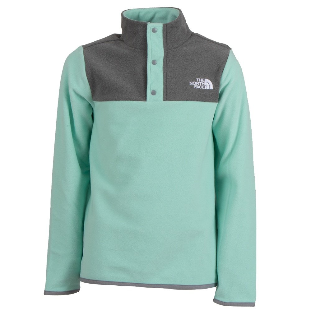 The North Face Glacier 1/4-Snap Fleece Mid-Layer (Girls') - Coastal Green