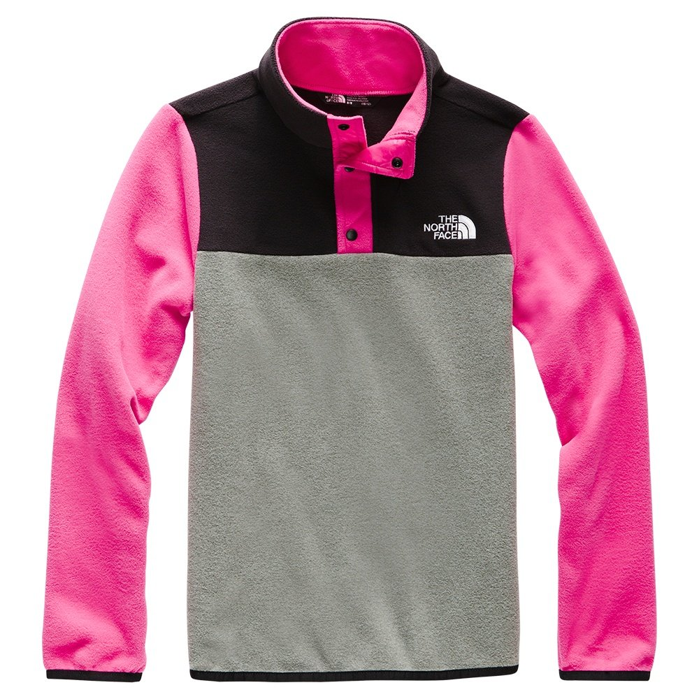 The North Face Glacier 1/4-Snap Fleece Mid-Layer (Girls') - Mr Pink