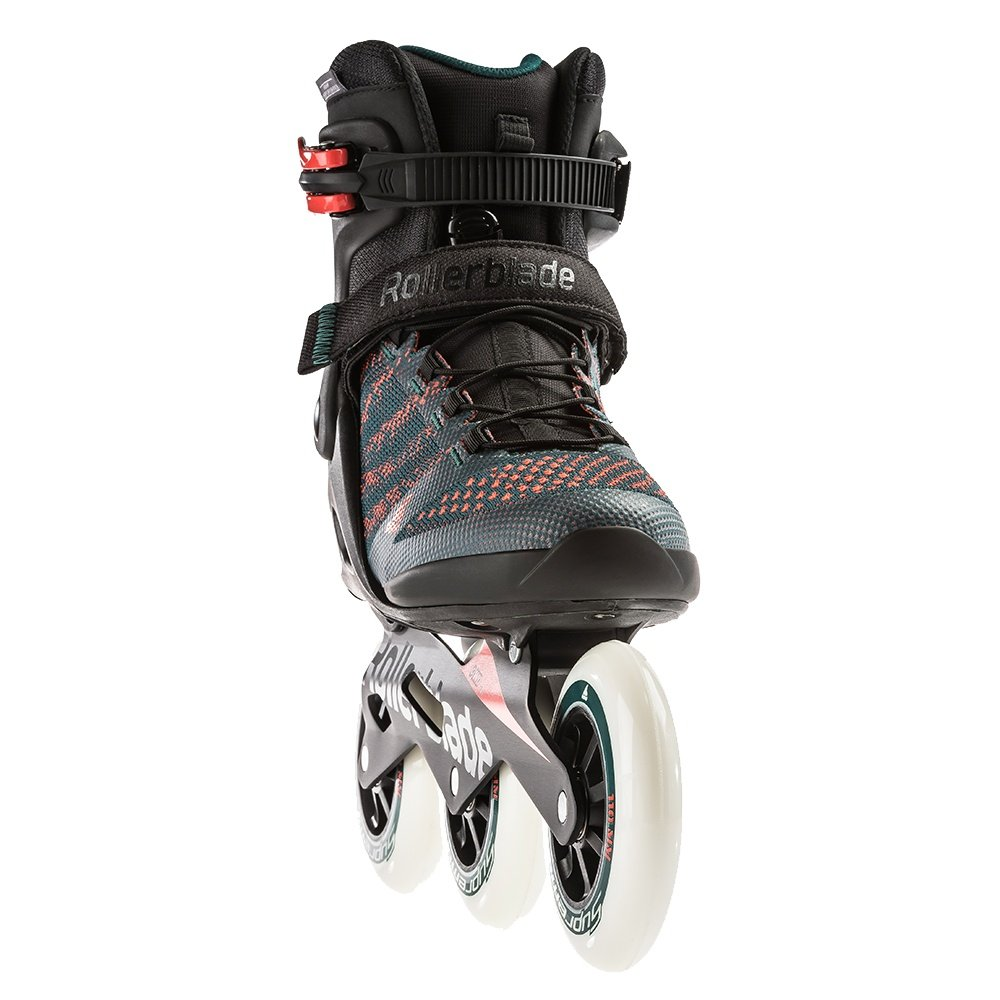 Rollerblade Macroblade 110 3WD Inline Skate (Men's) - Teal Green/Orange Burst