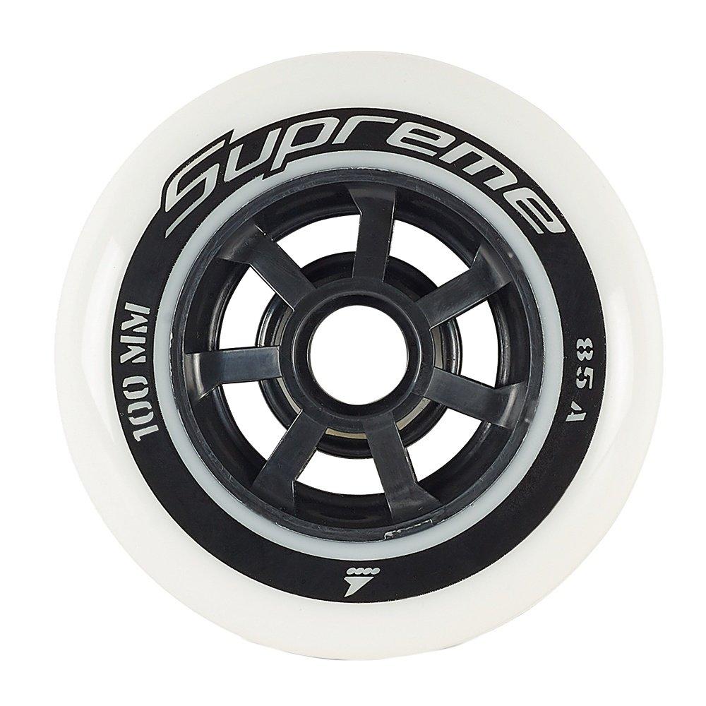 Rollerblade Supreme 100mm Inline Skate Wheel 6-Pack - White