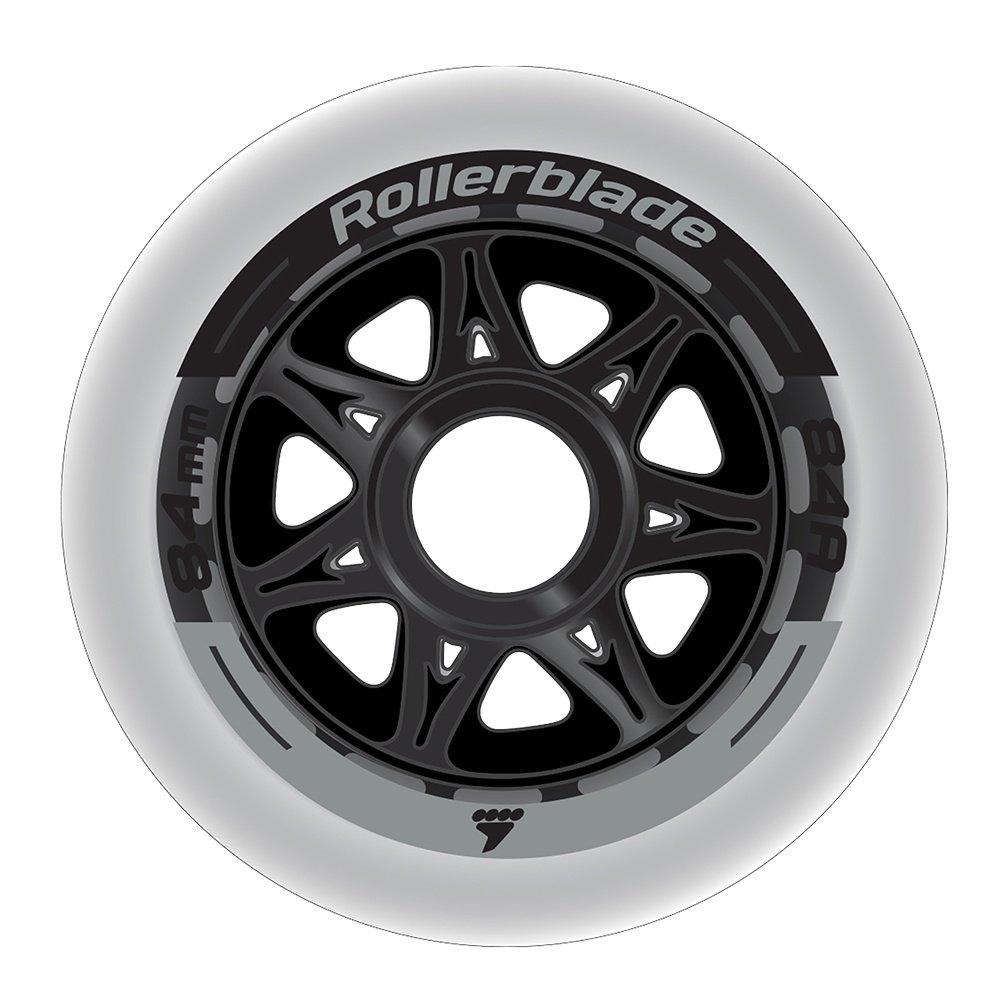 Rollerblade 84mm Inline Skate Wheel 8-Pack - Clear