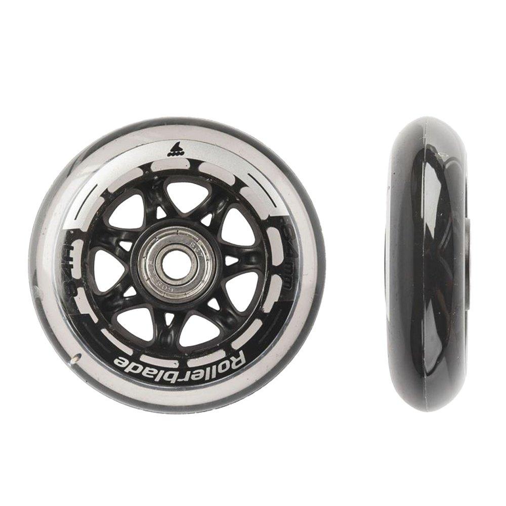 Rollerblade 84mm Inline Skate Wheel & Bearing 8-Pack Kit  - Clear