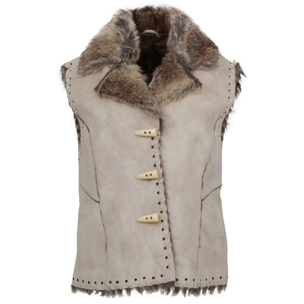 Scully Faux Fur Trim Vest (Women's) - Chalk
