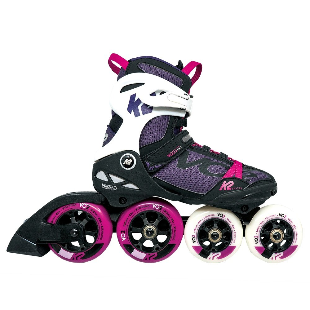 K2 VO2 100 X Pro Inline Skate (Women's) - Black/Purple