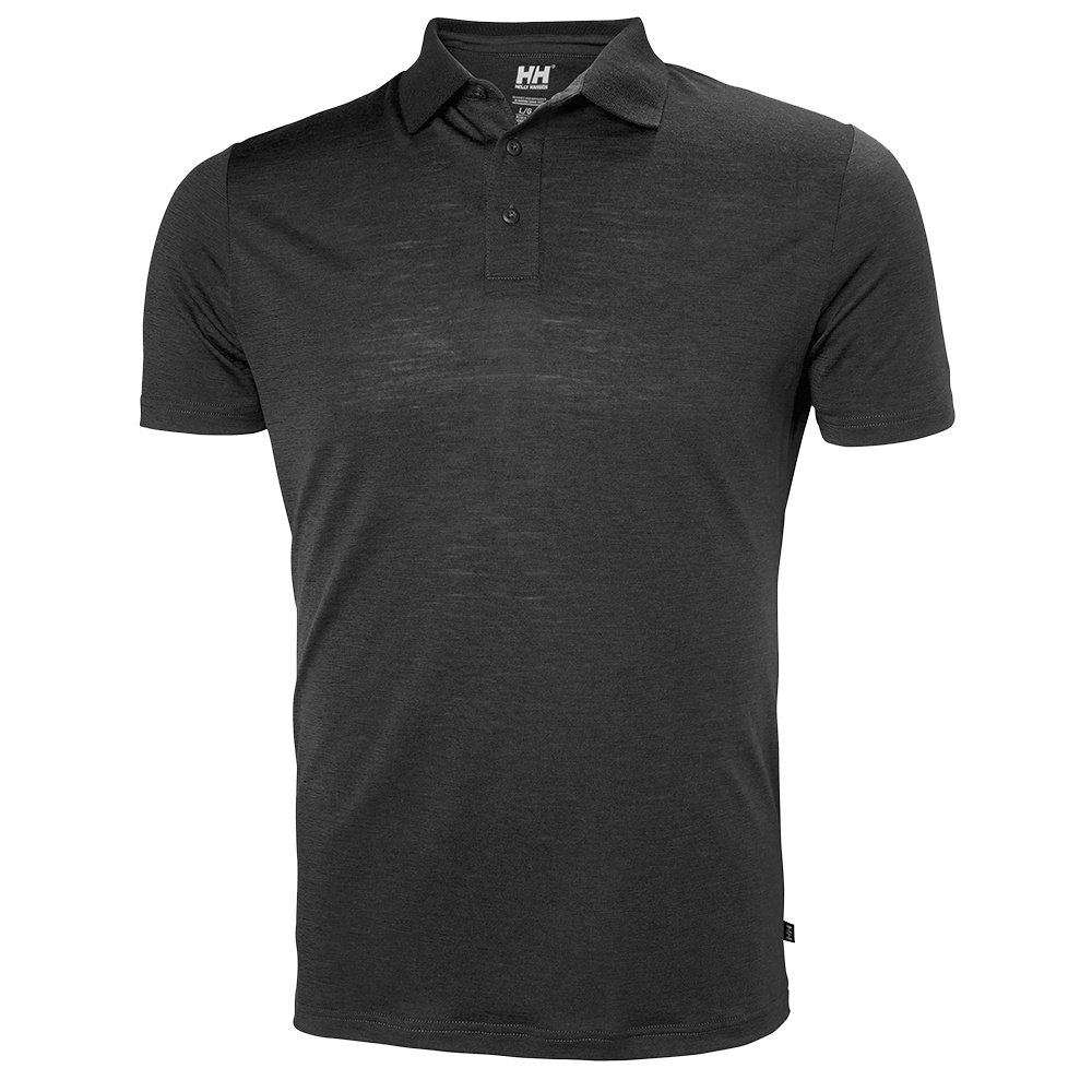 Helly Hansen Merino Light Short Sleeve Polo Shirt (Men's) - Ebony