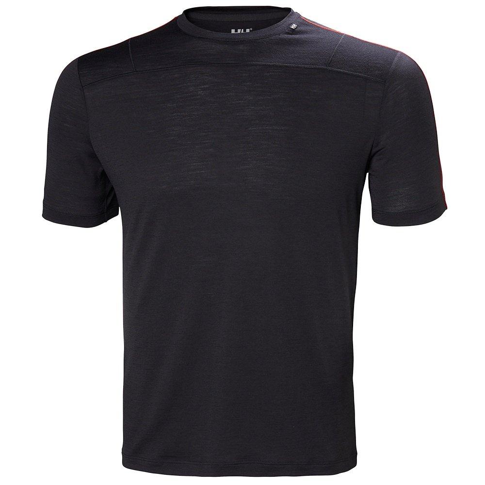 Helly Hansen Merino Light Short Sleeve Shirt (Men's) - Ebony