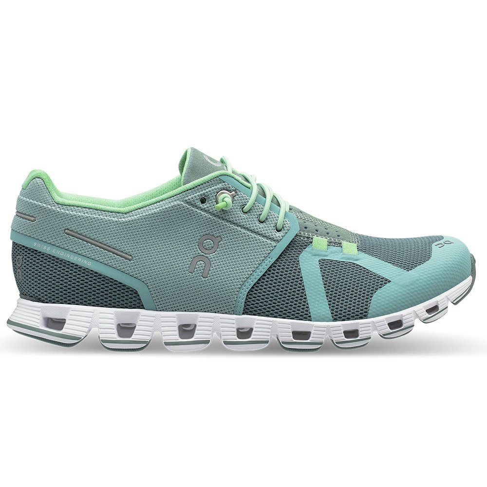 On Cloud Running Shoe (Women's) - Spray/Sea