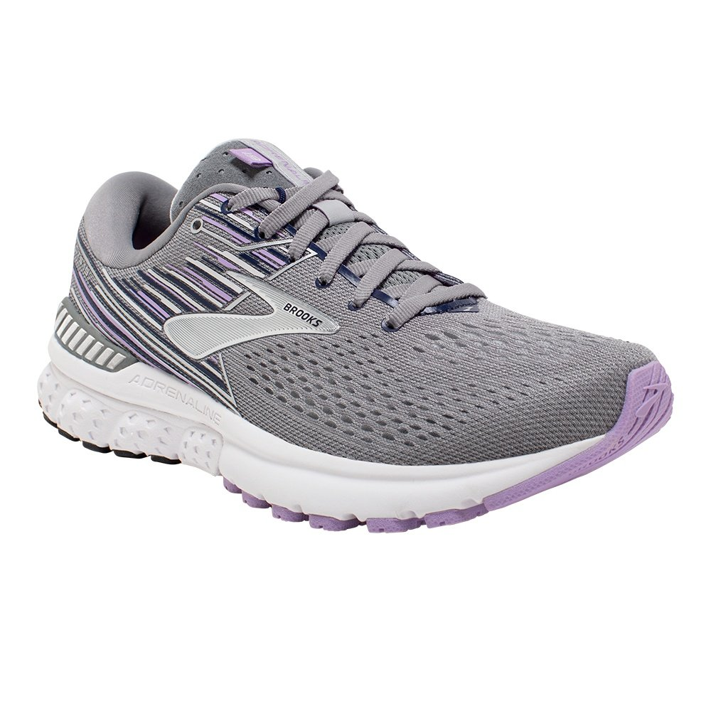 Brooks Adrenaline GTS 19 Running Shoe (Women's) - Grey/Lavender/Navy