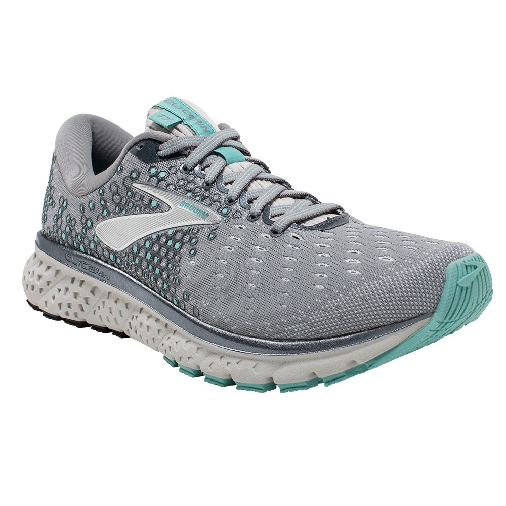 Brooks Glycerin 17 Running Shoe (Women's) - Grey/Aqua/Ebony