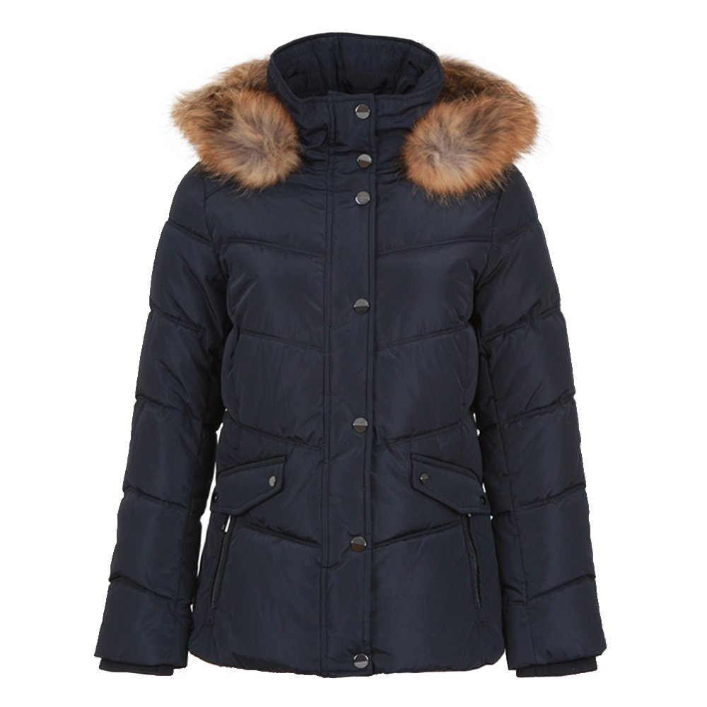 Ellabee Mount Hood Jacket with Real Fur (Women's) - Navy