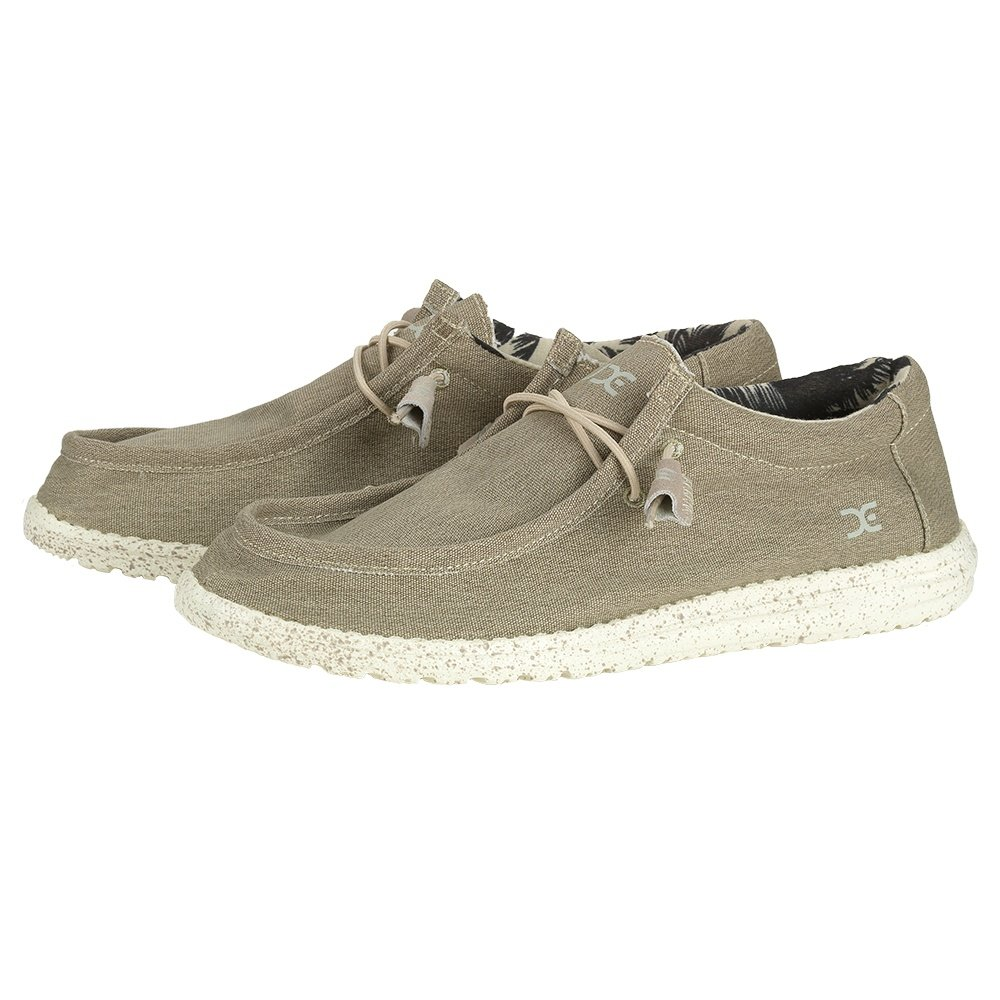 Hey Dude Wally Stretch Shoe (Men's) - Beige