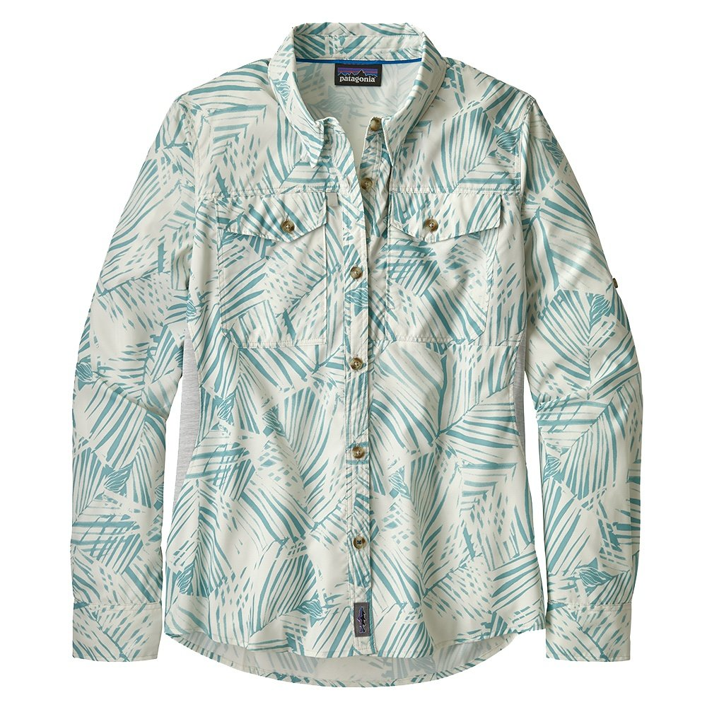 Patagonia Long Sleeve Sol Patrol Shirt (Women's) - Rain Fern Wash/Dam Blue