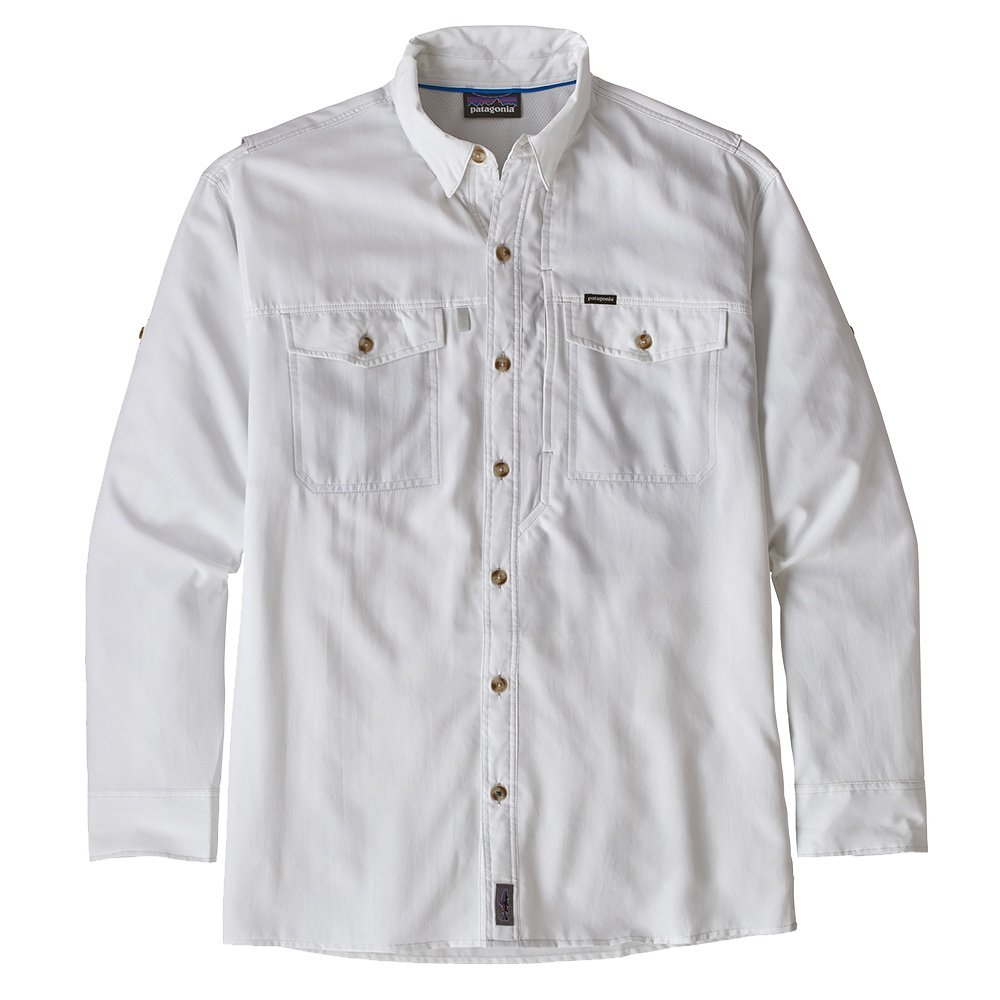 Patagonia Long Sleeve Sol Patrol II Shirt (Men's) - White