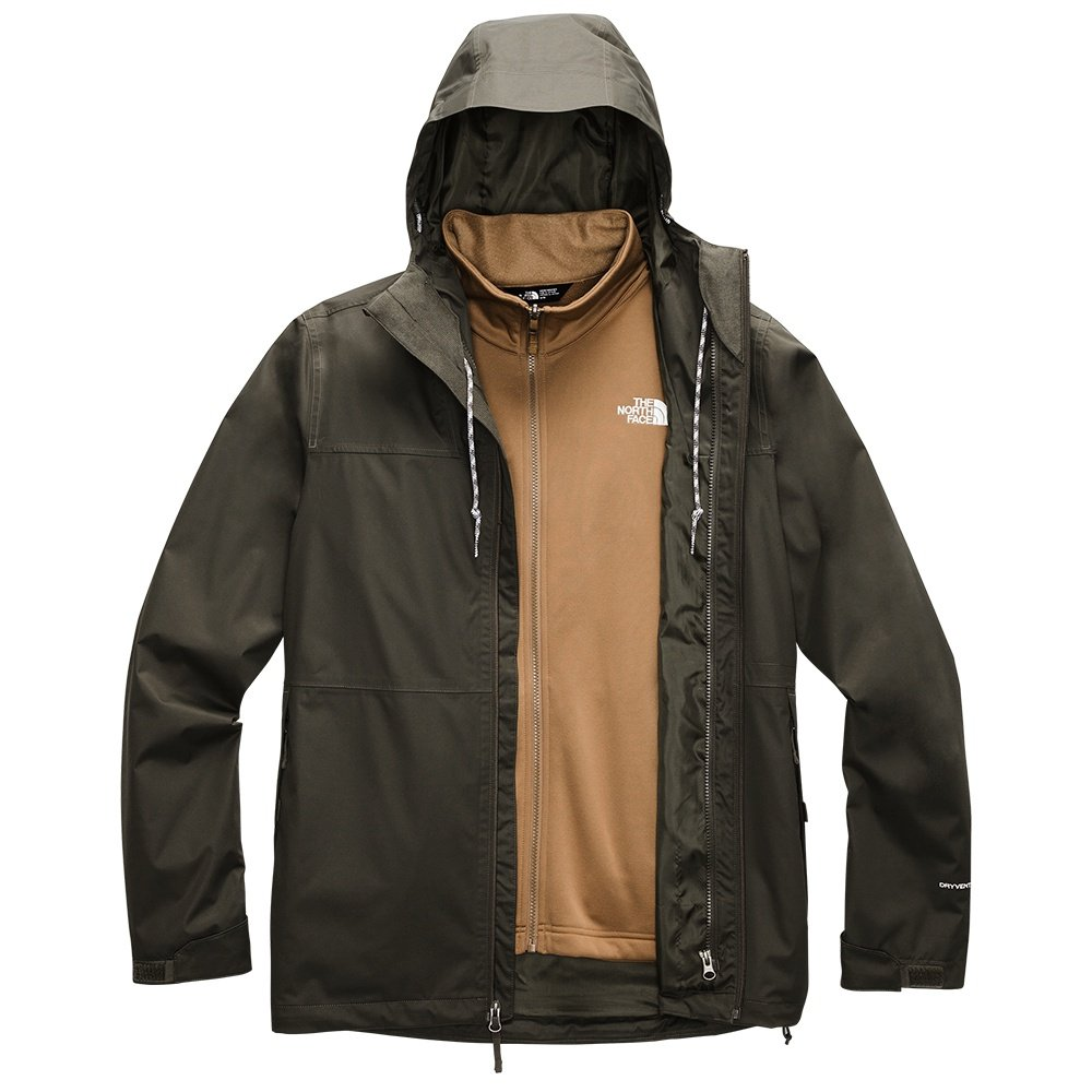 The North Face Arrowood Triclimate Jacket (Men's) - New Taupe Green/Utility Brown