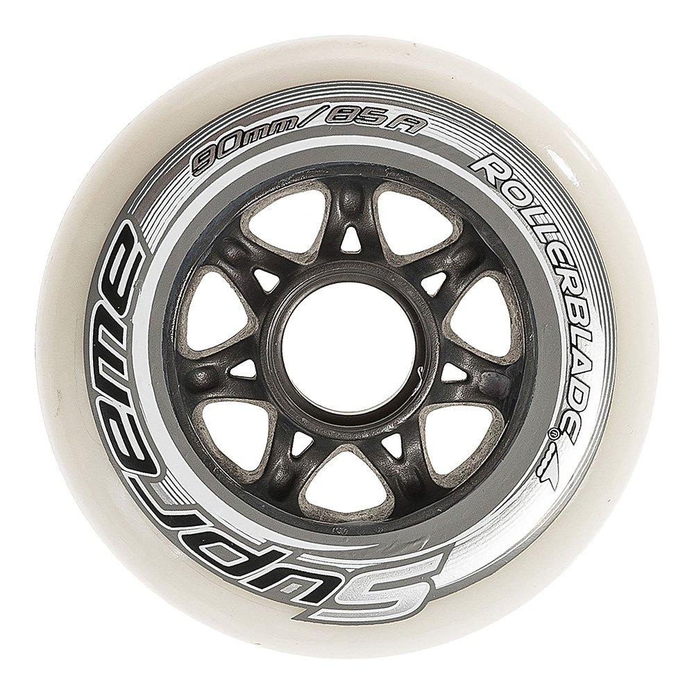 Rollerblade Supreme 90mm Inline Skate Wheel 8-Pack - White
