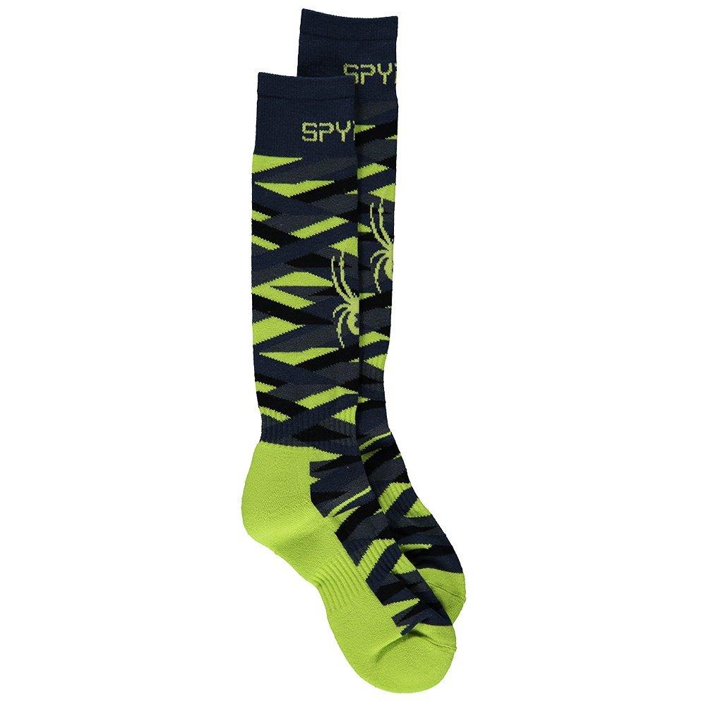 Spyder Peak Ski Sock (Boys') - Sharp Lime