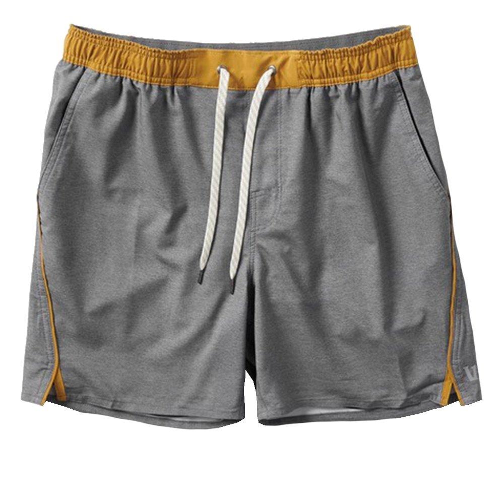 Vuori Trail Running Short (Men's) - Charcoal Heather Texture