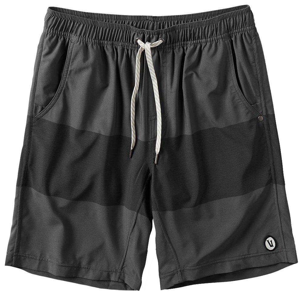 Vuori Kore Running Short (Men's) - Charcoal Texture Block