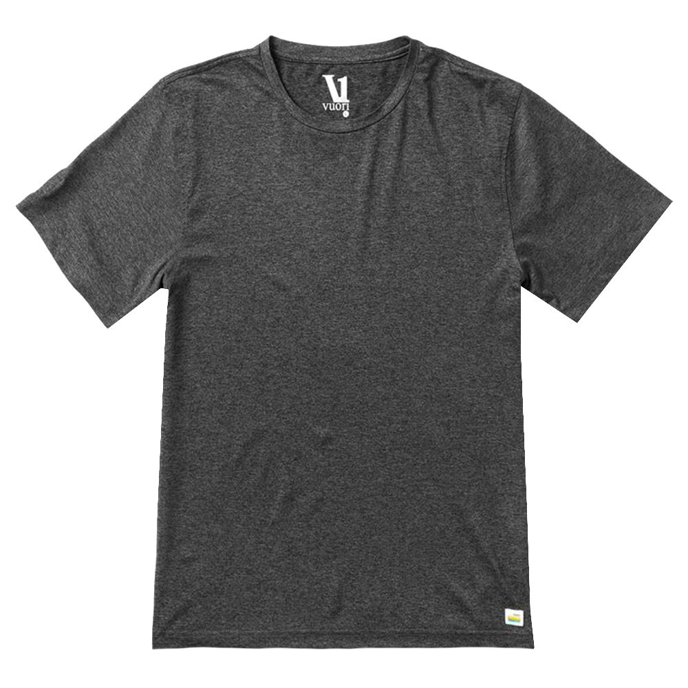 Vuori Strato Tech Tee Running Shirt (Men's) - Charcoal Heather