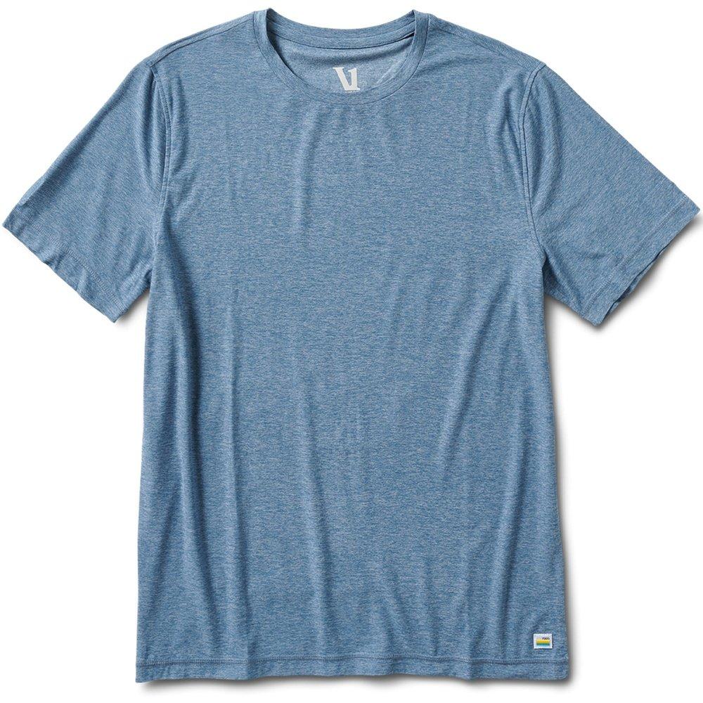 Vuori Strato Tech Tee Running Shirt (Men's) - Cloud Heather